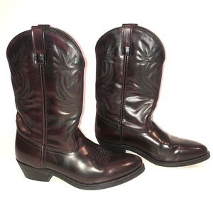 Laredo  Western Boots Men Size 10D Black Cherry